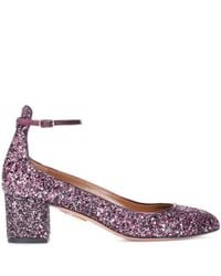 Aquazzura Pink Alix 50 Glitter Pumps