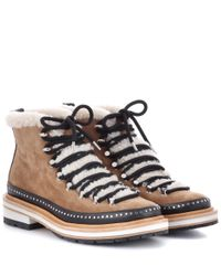 Rag & Bone Brown Compass Suede Ankle Boots