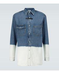 Camisa de jeans con dip-dye Givenchy de color Blue