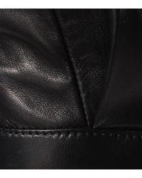 Givenchy Black Cropped-Lederhose mit Nieten