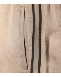 Brunello Cucinelli Metallic Jogginghose aus Satin