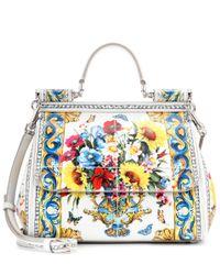 3e0b25530c Dolce   Gabbana. Women s Miss Sicily Leather Shoulder Bag