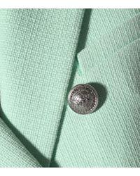 Blazer à boutons décoratifs Balmain en coloris Green