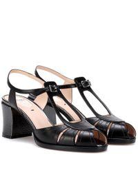 Fendi Black Leather Sandals