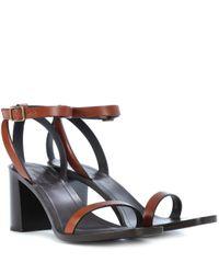 Sandales en cuir Saint Laurent en coloris Multicolor