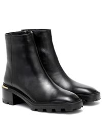 Jimmy Choo Black Melodie 35 Leather Ankle Boots