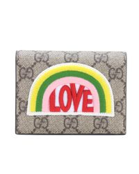 Gucci Natural Small Embellished Wallet