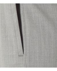 Pantalon Zoom en laine à coupe droite Joseph en coloris Gray