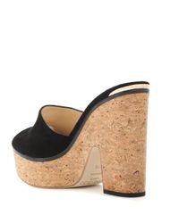Jimmy Choo Black Deedee 125 Suede Sandals