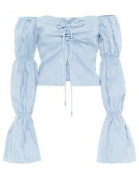 Cult Gaia Blue Bluse Claire aus Leinen