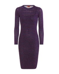 Missoni Purple Strickkleid mit Metallic-Fäden