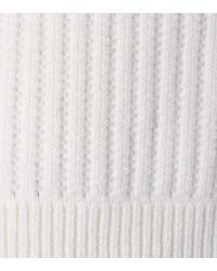 Pullover a coste in lana di Jil Sander in Natural