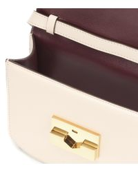Victoria Beckham White Eva Leather Crossbody Bag
