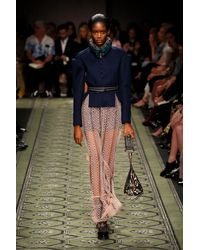 Burberry Pink Embroidered Tulle Skirt