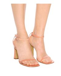 Dries Van Noten Pink Sandalen aus Leder