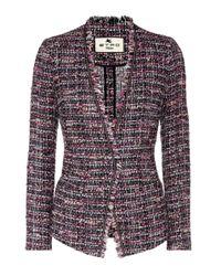 Etro - Purple Tweed Jacket - Lyst