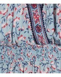 Jumpsuit corta a stampa di Poupette in Blue