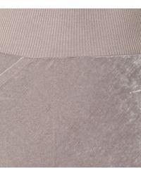 Rick Owens Purple Velvet Skirt