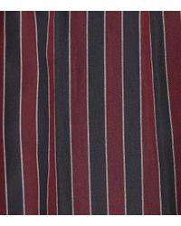 Robe Portefeuille En Coton Rayé Mila Isabel Marant en coloris Red