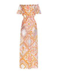 Emilio Pucci Orange Off-the-shoulder Dress