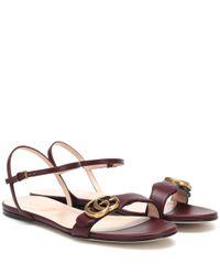 Gucci Multicolor Sandalen Marmont aus Leder