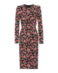 Dolce & Gabbana Multicolor Floral-printed Silk Dress