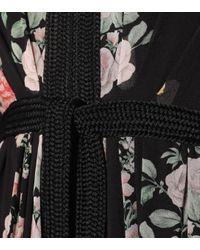 Robe longue imprimée en soie Giambattista Valli en coloris Black