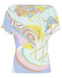 Emilio Pucci Multicolor Bedrucktes Top mit Seidenanteil
