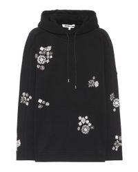 McQ Alexander McQueen Black Verzierter Hoodie aus Baumwolle