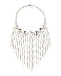 Collier serti de cristaux Miu Miu en coloris White