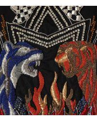 Robe en coton mélangé à ornements Balmain en coloris Black