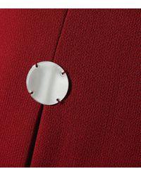 David Koma - Red Embellished Wool-blend Minidress - Lyst