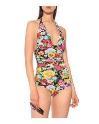 Dolce & Gabbana Multicolor Bedruckter Badeanzug