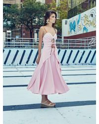 Rosie Assoulin - Pink Holy Moley Midi Dress - Lyst