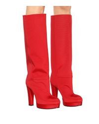Gucci Red Plateaustiefel