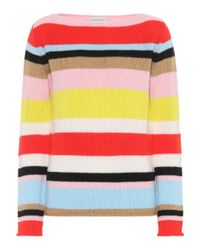 Etro Multicolor Striped Wool-blend Sweater