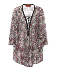 Missoni Multicolor Metallic Knitted Cover-up