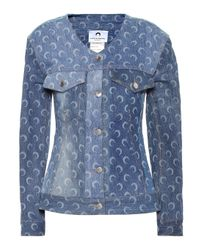 Giacca di jeans a stampa di MARINE SERRE in Blue