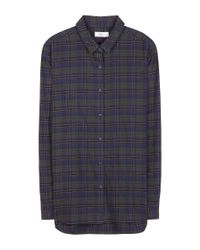 Closed Blue Cotton Checked Shirt
