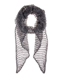 Isabel Marant Black Timothy Mohair And Wool-blend Scarf