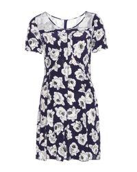 Nina Ricci Blue Silk Dress
