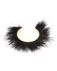 Isabel Marant Black Feather-embellished Bracelet