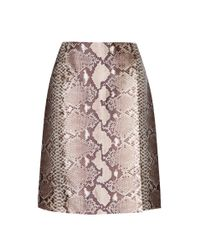 Tory Burch | Natural Printed Silk Skirt | Lyst