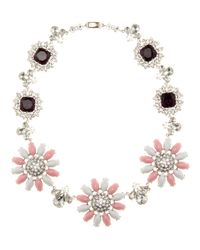 Miu Miu - Pink Crystal-embellished Necklace - Lyst