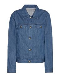 A.P.C. - Blue Denim Jacket - Lyst
