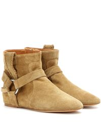Isabel Marant - Multicolor Toile Ralf Suede Ankle Boots - Lyst