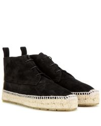 Balenciaga | Black Espadrille Ankle Boots | Lyst