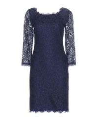 Diane von Furstenberg - Blue Zarita Indigo Lace Dress - Lyst