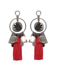 Oscar de la Renta - Metallic Tasselled Earrings - Lyst