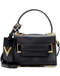 Valentino | Black Garavani My Rockstud Mini Leather Shoulder Bag | Lyst